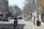 Bike lane closed